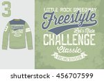 t shirt print. graphic design.... | Shutterstock .eps vector #456707599