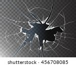 vector broken glass. isolated... | Shutterstock .eps vector #456708085