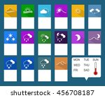 set of flat icons with long...