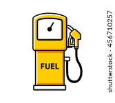 yellow gasoline fuel pump icon... | Shutterstock .eps vector #456710257