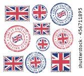 great britain grunge postal... | Shutterstock .eps vector #456711895