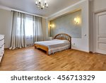 bedroom with a beautiful... | Shutterstock . vector #456713329