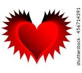 red black devilish heart number ...   Shutterstock .eps vector #456714391