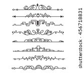decorative vector elements.... | Shutterstock .eps vector #456718831