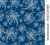 A Pattern With  Jellyfishes On...