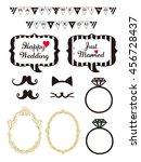 wedding design elements for... | Shutterstock .eps vector #456728437