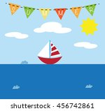 summer boat   Shutterstock .eps vector #456742861