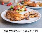 grilles chicken steak with... | Shutterstock . vector #456751414