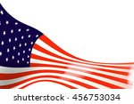 the flag  usa on  white... | Shutterstock . vector #456753034