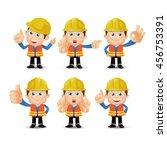 people set   profession   worker | Shutterstock .eps vector #456753391