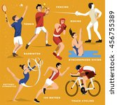 summer game event sports... | Shutterstock .eps vector #456755389