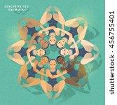synchronized swimming   summer... | Shutterstock .eps vector #456755401
