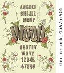 Retro Wood Plank Font Design  ...