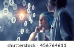 innovative technologies in... | Shutterstock . vector #456764611