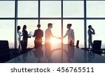 silhouettes of business people... | Shutterstock . vector #456765511