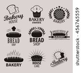 set of bakery or cakery and...   Shutterstock .eps vector #456765559