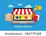 ecommerce online store | Shutterstock .eps vector #456779185