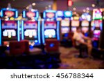 blurry image of slots machines... | Shutterstock . vector #456788344