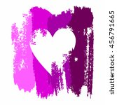 heart in grunge style on a... | Shutterstock .eps vector #456791665