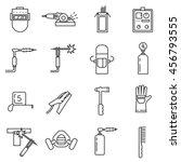 welding icon set. welding tools.... | Shutterstock .eps vector #456793555