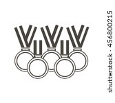 Set Of Medals For Sports And...