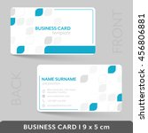 business card template for your ... | Shutterstock .eps vector #456806881