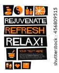 rejuvenate refresh relax  flat... | Shutterstock .eps vector #456809515
