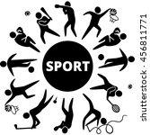 world of sports. illustration... | Shutterstock . vector #456811771