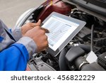 close up of mechanic with... | Shutterstock . vector #456822229