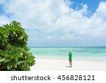 man taking photo on idyllic... | Shutterstock . vector #456828121