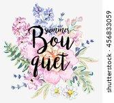 romantic arrangement of... | Shutterstock .eps vector #456833059