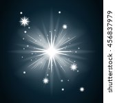 shine star with glitter and... | Shutterstock . vector #456837979