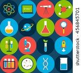 dark tile science background... | Shutterstock .eps vector #456845701