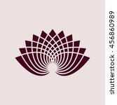 purple icon of lotus. eps 10. | Shutterstock .eps vector #456860989
