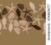seamless  horizontal   pattern... | Shutterstock .eps vector #456863677