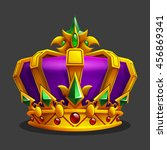 cartoon golden crown icon. game ...