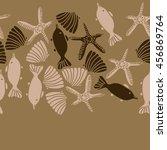seamless  horizontal   pattern... | Shutterstock . vector #456869764
