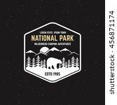 stamp for national park ... | Shutterstock .eps vector #456871174