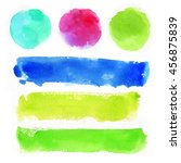 colorful watercolor background... | Shutterstock . vector #456875839