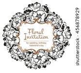vintage delicate invitation... | Shutterstock .eps vector #456878929