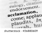 Small photo of Acclamation