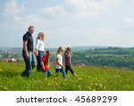 happy family with children... | Shutterstock . vector #45689299