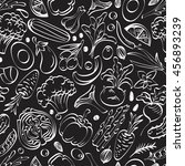 vegetable seamless pattern on a ... | Shutterstock .eps vector #456893239