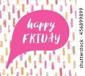 happy friday text in speech... | Shutterstock .eps vector #456899899