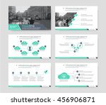 green elements of infographics...