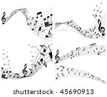 vector musical notes staff...   Shutterstock .eps vector #45690913