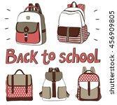 set of school bags. school bags ...   Shutterstock .eps vector #456909805