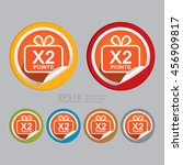 vector   x2 points infographics ... | Shutterstock .eps vector #456909817