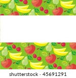 vector background with fruit... | Shutterstock .eps vector #45691291