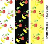 vector  background with fruit... | Shutterstock .eps vector #45691300